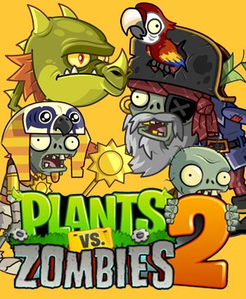 Resultado de imagen para plants vs zombies 2 caratula